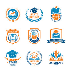 University badges school business identity vector