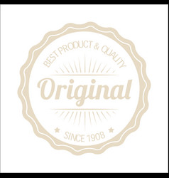 Vintage circle original image vector
