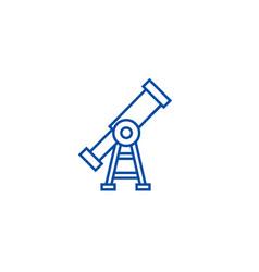 visiontelescope line icon concept vision vector image