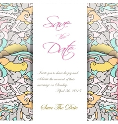 Wedding invitation card suite with thai ornament vector