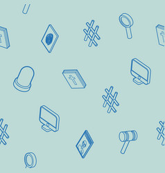 law outline isometric pattern vector image