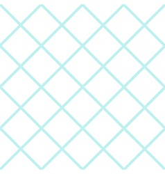 Mint White Grid Chess Board Diamond Background vector image