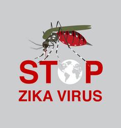stop mosquito flat icon designlogo vector image vector image