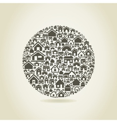 House a sphere vector image vector image