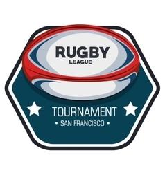 rugby league tournament label design vector image