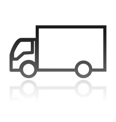 simple icon of a truck transportation concept vector image