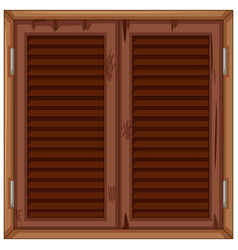 wooden window in bad condition vector image vector image