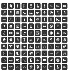 100 sneakers icons set black vector image vector image