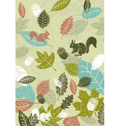 background of hand draw leafs vector image vector image
