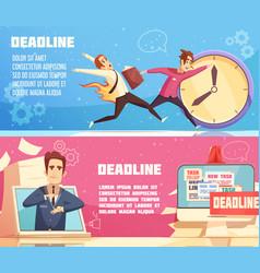 business work deadline horizontal banners vector image