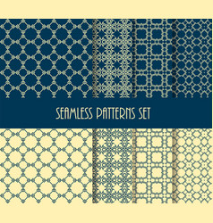 fashion fabric ornament collection vector image