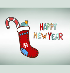 happy new year socks vector image vector image