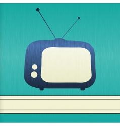 Retro TV background vector image vector image