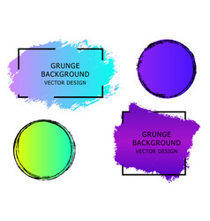 Set of trendy gradient grunge paint background vector