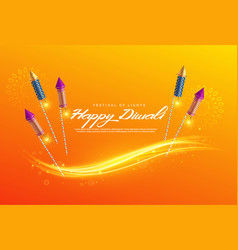 Beautiful diwali festival greeting background vector