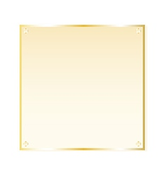 Gold sticker isolated object vector image