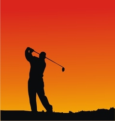 Golf Player Silhouettes vector image