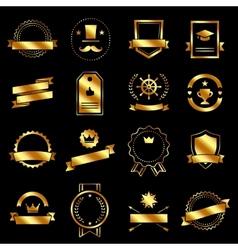 Vintage retro flat badges labels signs and symbols vector image