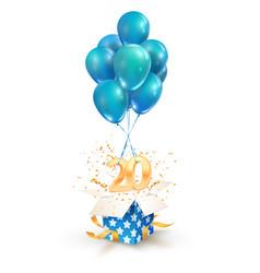 20th years celebrations greetings twenty vector
