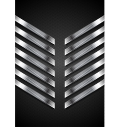 Abstract tech black background with metallic vector image