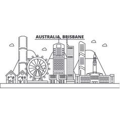 Australia brisbane architecture line skyline vector