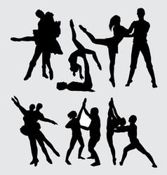 Ballerina dance silhouette vector