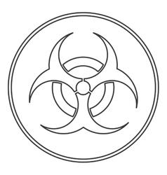 Bio hazard icon vector