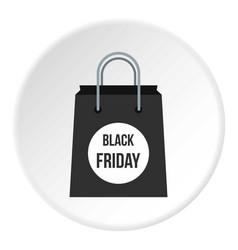 black friday bag icon circle vector image