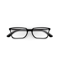 black office glasses with shiny frame for work vector image