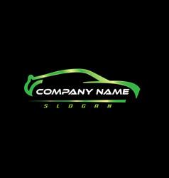 Car logo black background vector