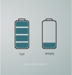 charged and uncharged battery vector image
