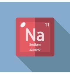 Chemical element Sodium Flat vector image
