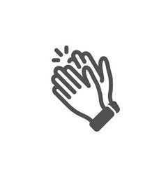 Clapping hands icon clap sign vector