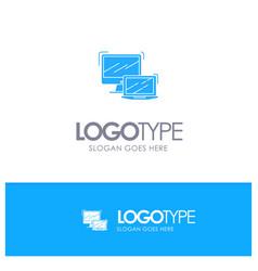 Computer business laptop macbook technology blue vector