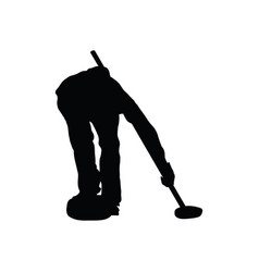 curling silhouette vector image