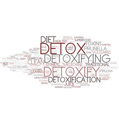 Detoxify word cloud concept vector