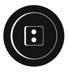 Dress round button icon simple style vector