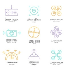 Drone logotypes vector