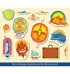 Elements design travel vector