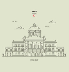 federal palace in bern vector image