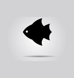 fish design logo template seafood vector image