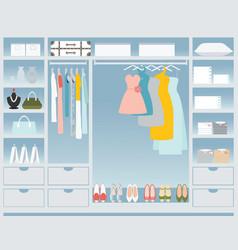 Flat design walk in closet vector