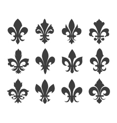 Fleur de lis icons vector image