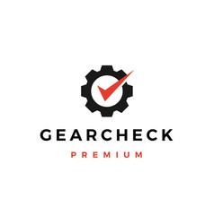Gear check logo icon vector