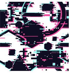Glitchy seamless pattern abstract texture vector