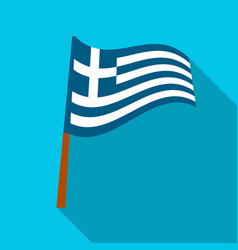 Greek flag icon in flat style isolated on white vector