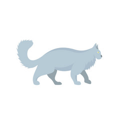 grey cat icon flat style vector image