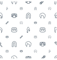 Hairstyle icons pattern seamless white background vector
