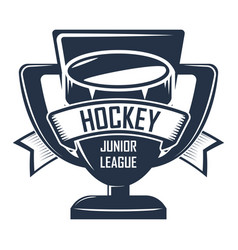 hockey badge championship vector image