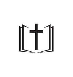 Holy bible icon with the cross vector